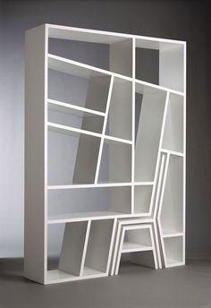 면재의 반복으로 또다른 사물과 합체되는 공간을 만들 수 있다.