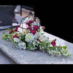 Grave Decorations, Flower Decorations, Table Decorations, Birdcages, Ikebana, Funeral, Floral Arrangements, Outdoor Living, Centerpieces