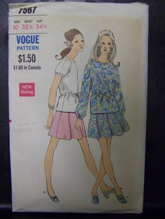 Vintage 1960s Vogue 7567 Two-Piece DRESS Pattern sz 12 COMPLETE by RaggsPatternStash on Etsy