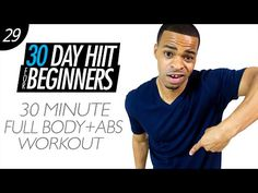 30 Min. Beginners Total Body Cardio HIIT & Abs Home Workout | Beginner HIIT #29 - YouTube