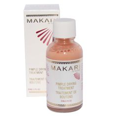 Makari Pimple Drying Treatment Cream - 29mL Bottle  This drying lotion is a fast acting effective acne spot treatment. Formulated with salicylic acid, calamine and other quick-drying ingredients. This product will shrink ugly white heads virtually overnight while you sleep. While other acne spot treatments can irritate and dry delicate or sensitive skin, this product is safe and effective for all skin types.