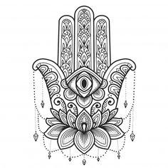 Hamsa Tattoo Design, Hamsa Hand Tattoo, Hamsa Art, Shiva Tattoo Design, Hamsa Design, Hand Tattoos, Tatoos, Hamsa Drawing, Mandala Drawing
