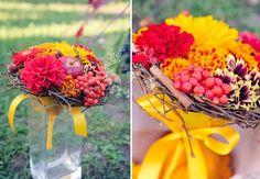 осенний букет невесты-autumn wedding bouquet