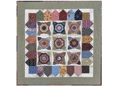 Scrappy quilted table mat