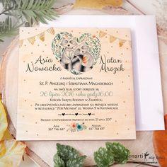 Szopy w sercu, drewniane zaproszenia ślubne Art, Art Background, Kunst, Performing Arts