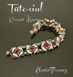 """Crescent Squares"" beadwoven bracelet | Craftsy"
