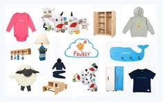 Personalisierbare Sachen für Kinder zum Anziehen, Spielen und Wohnen.