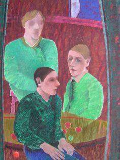Jorge Alzaga, El despido, 1990, óleo sobre tela, 174.5 x 130 cm. #TalentoMexicano