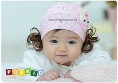 Lace and Wigs Unique Design Baby Jewelry Wearing Hat Headwear Headbands Headband Hairstyles, Girl Hairstyles, Childrens Wigs, Korean Babies, Baby Jewelry, Lace Headbands, Girls Hair Accessories, Fashion Accessories, Baby Head