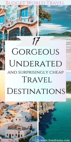 Are you looking for budget world travel destinations that are quite undiscovered and Underrated travel destinations that you and your budget will find unique and beautiful. cheap 17 Unique Travel Destinations That You Need To Know About -It's a Drama Cheap Places To Visit, Cheap Places To Travel, Cheap Travel, Budget Travel, Travel Hacks, Travel Tips, Travel Info, Travel Essentials, Bucket List Travel