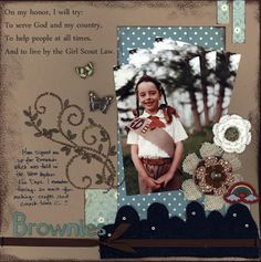 Girl scout Brownie layout.
