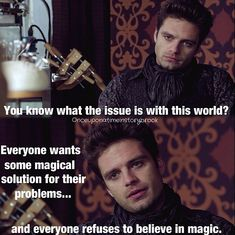 Sebastian Stan as the Mad Hatter in Once Upon a Time- one of the best quotes in the show! He has a point!