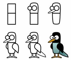 Simple, yet amusing bird is featured in this simple drawing tutorial. Six easy step is all it takes to complete this drawing lesson! More can be found on the site.
