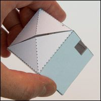 pop-up cube (pops with an elastic band)  Lots of clever paper ideas on this site!