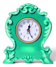 Take a look at this Teal Boho Clock by Foreside on #zulily today!