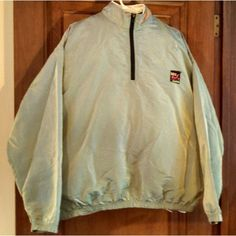 Surf Style irridescent green Q-Za vintage nylon beach pullover windbreaker OSFA Listing in the Outdoor,Mens Clothing,Clothes, Shoes, Accessories Category on eBid United States   154117867