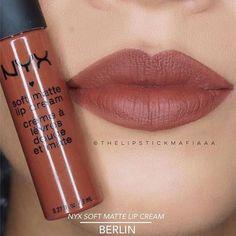 Most current Free Mascara eyes Popular , İsimlerini Dünya şehirlerinden alan en ünlü Ruj koleksiyonumuz Soft Matte Lip Cream rujun en güzel renklerinden biri 'Berlin'! Senin Soft Matte Lip Cream' in hangisi? Makeup Swatches, Makeup Dupes, Skin Makeup, Nyx Dupes, Nyx Lip Cream Swatches, Nyx Cosmetics Lipstick, Maybelline Matte Ink, Ulta Eyeshadow, Simple Eyeshadow