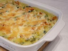 Spenótos, rakott tészta recept