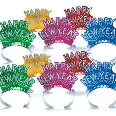 Happy New Year Tiara Assortment from Windy City Novelties