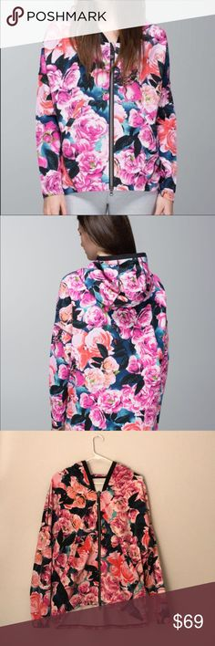 SALE TODAY ❤️❤️❤️✂️  Lululemon Lululemon floral full zip jackets in good condition!!! No damages stains or any discoloration. Tops Sweatshirts & Hoodies