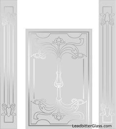 Concorde 3d Double Entry Doors Hand Crafted Sandblast