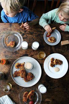 Parmesan-Oregano Baked Chicken Fingers | Alexandra's Kitchen | @alexandracooks