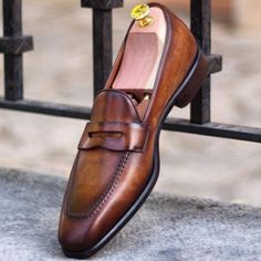NEW Handmade Men brown leather loafers, Men slipons, Men's loafers shoes, Men st Mens Loafers Shoes, Loafer Shoes, Men's Shoes, Shoe Boots, Dress Shoes, Shoes Men, Shoes Style, Wing Shoes, Suede Shoes