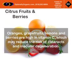 Citrus and berries will help keep your eyes #healthy and your vision sharp! #healthyliving #healthyeating