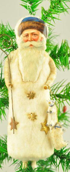 Spun cotton santa