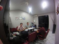 Reunião de planejamento - Maycon, João e Guto.