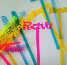 Rave,party, swizzle Sticks,Drink Stirrer,Cocktail Sticks,Birthday Party,Party Decor,Bridal Shower,Engagement Party,Stir Sticks, 6 Pk by JennandJulesDesigns on Etsy