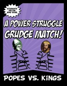Popes VS Kings Power Struggle Grudge Match Common Core Activity | TpT