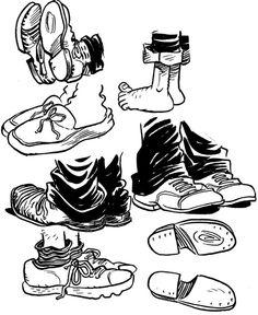 How to Draw Cartoon Feet