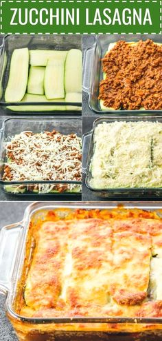 This easy zucchini lasagna is a great low carb and healthy alternative to your typical lasagna. It's so good that you won't miss lasagna noodles. **CLICK PIN TO READ FULL RECIPE** Ketogenic Diet Ketogenic Diet Meal Plan, Diet Meal Plans, Ketogenic Recipes, Vegetarian Recipes, Healthy Recipes, Ketogenic Breakfast, Healthy Menu, Yogurt Recipes, Healthy Dishes