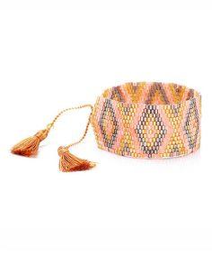 Love this Goldtone & Neon Woven Bracelet on #zulily! #zulilyfinds