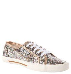 "Pepe Jeans Sneaker ""Aberlady"", Glitzer-Design, schimmernde Blenden gold"