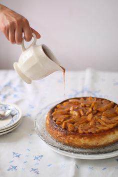 Cheesecake de melocotón y vainilla - peach vanilla cheesecake