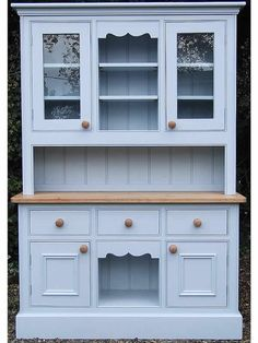 Large Painted Pine Welsh Dresser in Farrow & Ball Parma Gray