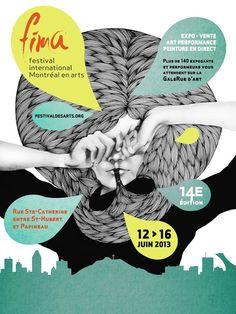 Festival international de Montréal en Arts (FIMA) affiche officielle - Martine Frossard
