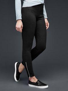 Zip ponte leggings Product Image