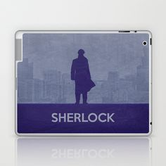 Sherlock Poster 01 Laptop & iPad Skin by Misery - $25.00
