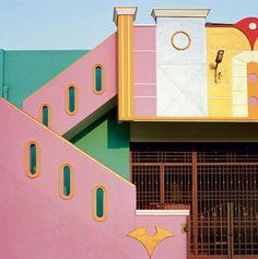 El misterio de las bellas casas de colores en la ciudad Tiruvannamalai al sur de la India