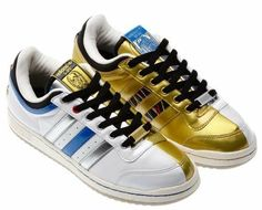 Could there be more fun in one shoe? Men's adidas Originals Star Wars Top  Ten Low Droid Shoes