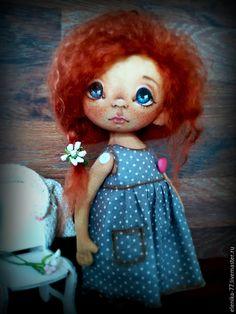 Купить Варенька. Текстильная кукла - рыжий, рыжая девочка, тыквоголовка, кукла ручной работы