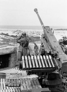 A German 37mm Flak gun, 1943.