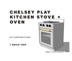 You Can Build This! The Design Confidential DIY Furniture Plans // How to Build a Chelsey Play Kitchen Stove + Oven