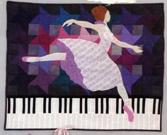 """En Pointe"" quilt pattern by Kelly Gallagher-Abbott and Lura Schwarz Smith as seen at Amazon. #ballet, #dance, #music, #quiltpattern"