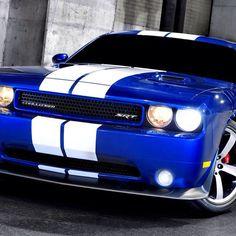 Cool blue Dodge Challenger!