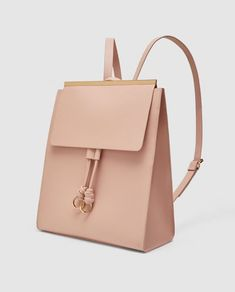 Somon Pink BACKPACK WITH METAL DETAIL from Zara