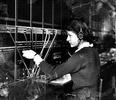 telephone operator - this looks just like Aunt Mary Vintage Phones, Vintage Telephone, Dysfunctional Family Roles, Bell Canada, You Call, Slumber Parties, Do You Remember, Back In The Day, New Pictures